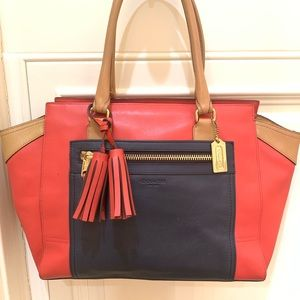 **SALE** Coach leather colorblock Legacy Candace